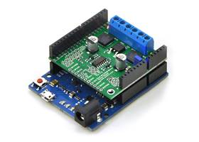 Pololu dual MC33926 motor driver shield for Arduino - with Leonardo